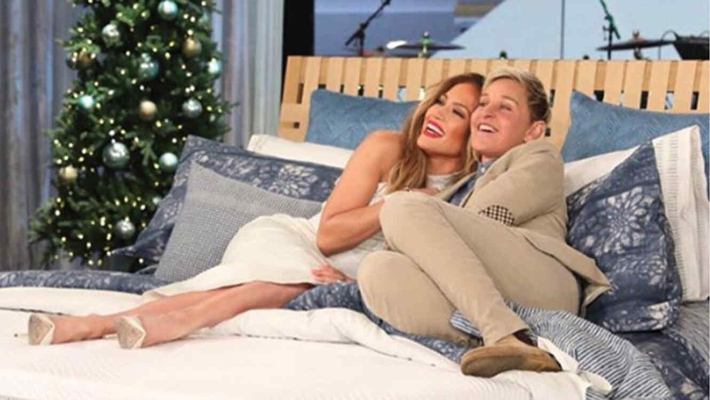 Jennifer Lopez and Ellen DeGeneres