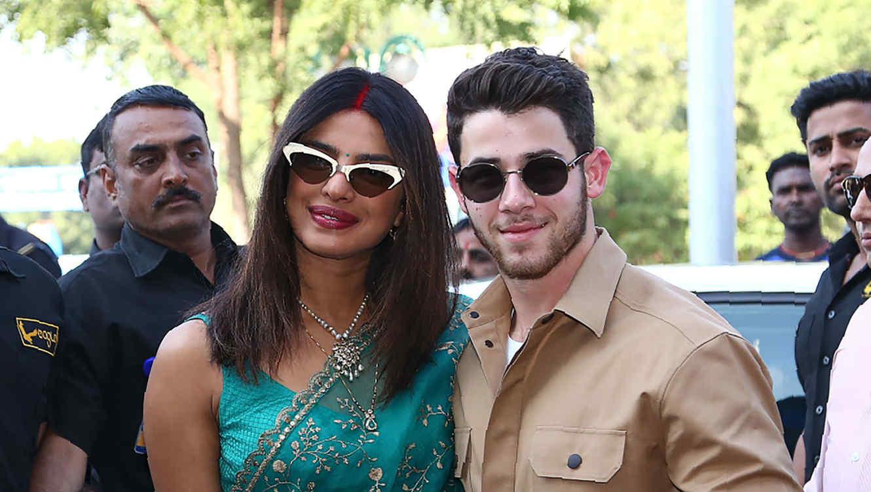 Priyanka Chopra y Nick Jonas tras la celebración de su boda