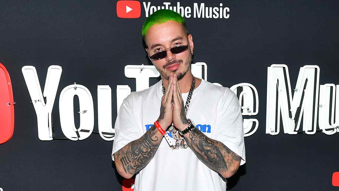 J Balvin at a YouTube music event during Latin Grammys week