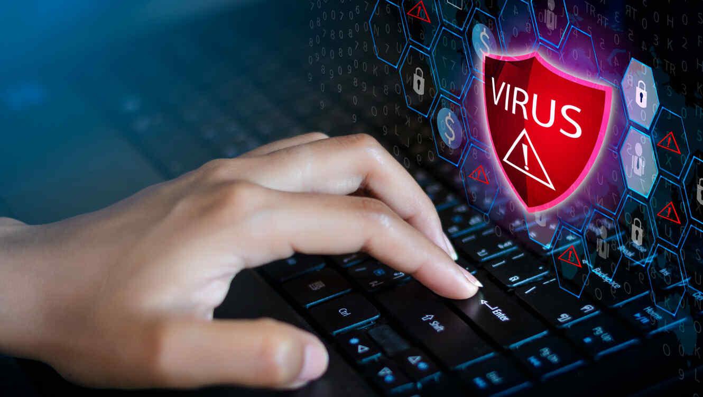 Computadora infectada con virus