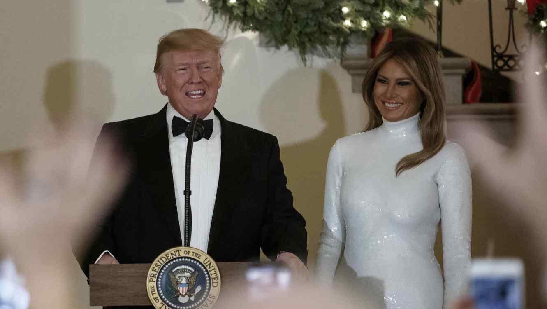 El presidente y la primera dama en la Casa Blanca, el sábado 15 de diciembre.