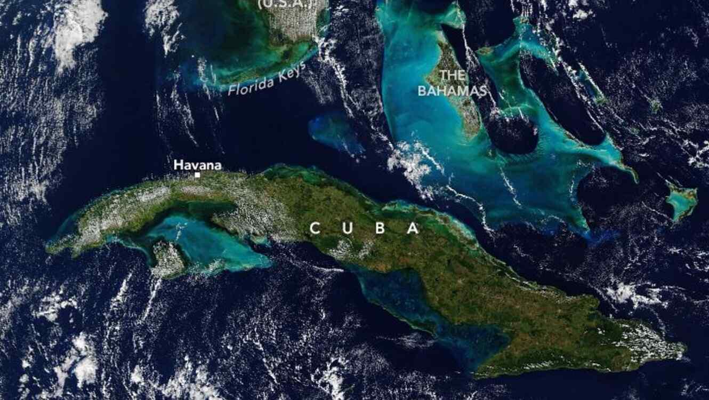 Foto satelital de Cuba