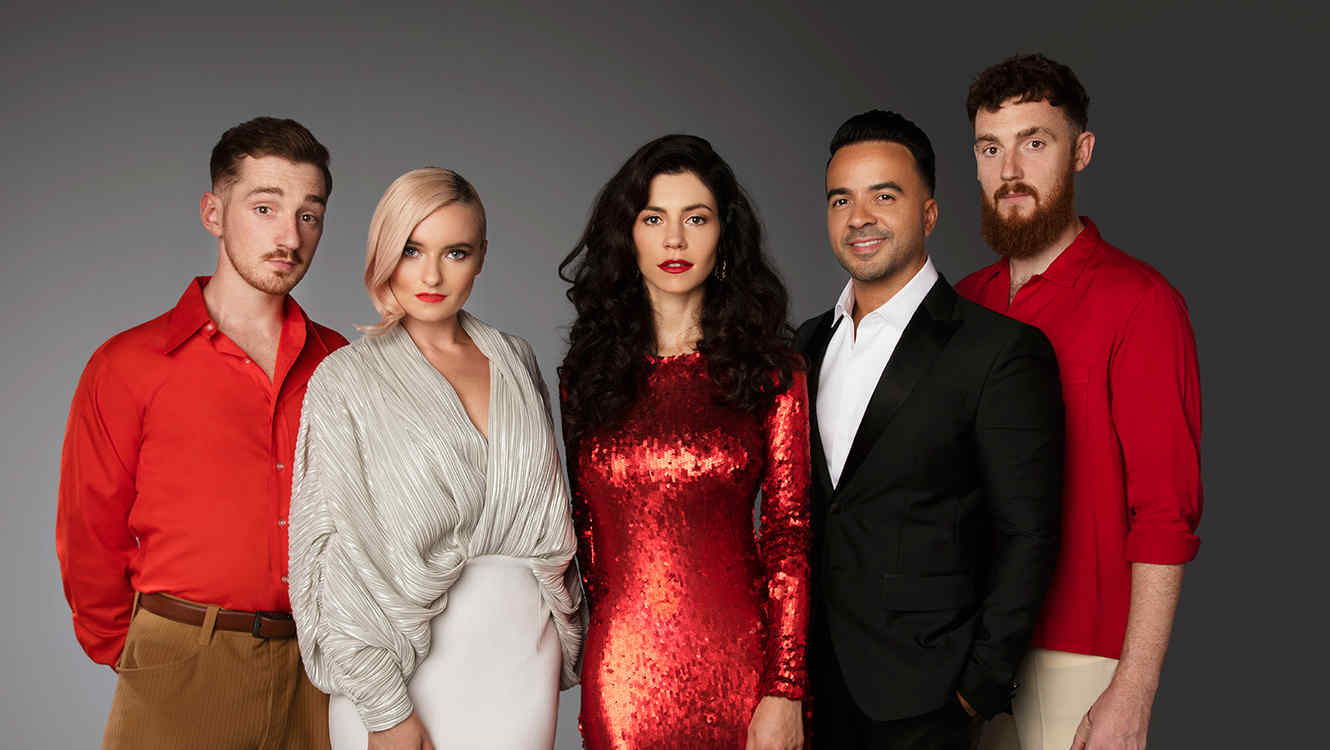 Clean Bandit and Luis Fonsi pose for photo