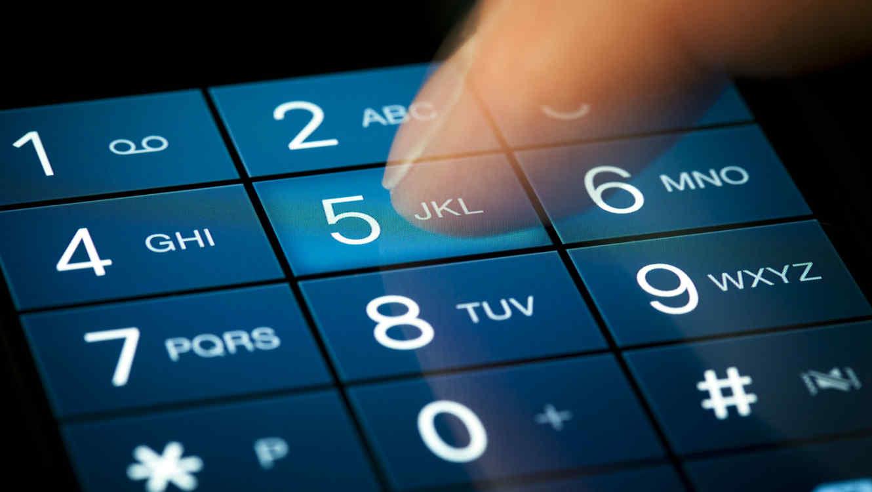 Celular mostrando el número telefónico