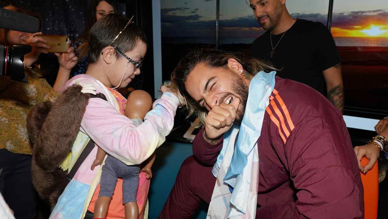 Maluma cuts his long hair