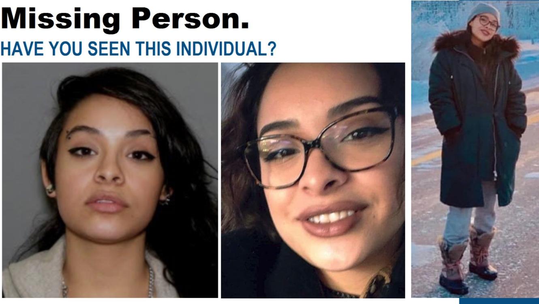 Composición con tres imágenes de Valerie Reyes distribuidas por la policía.