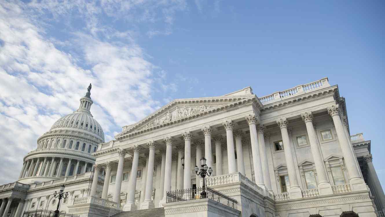 Fotografía del Capitolio, la sede del Congreso, en Washington D.C.