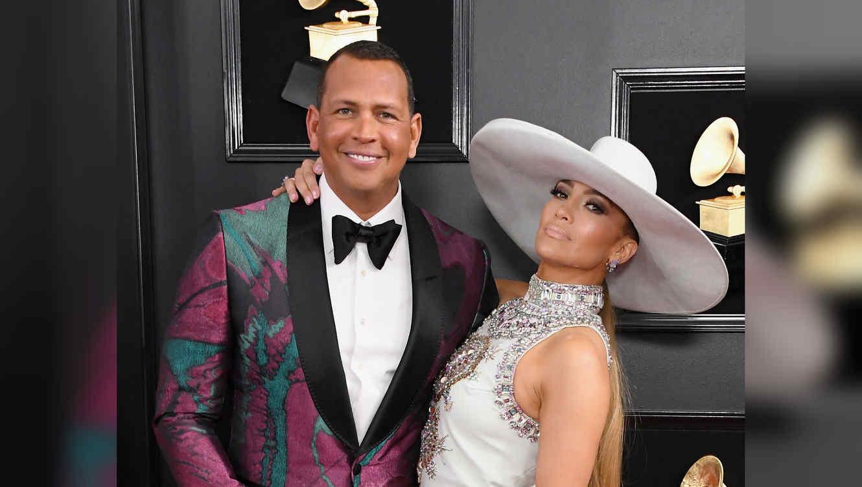 Alex Rodriguez con Jennifer Lopez en los Grammys 2019