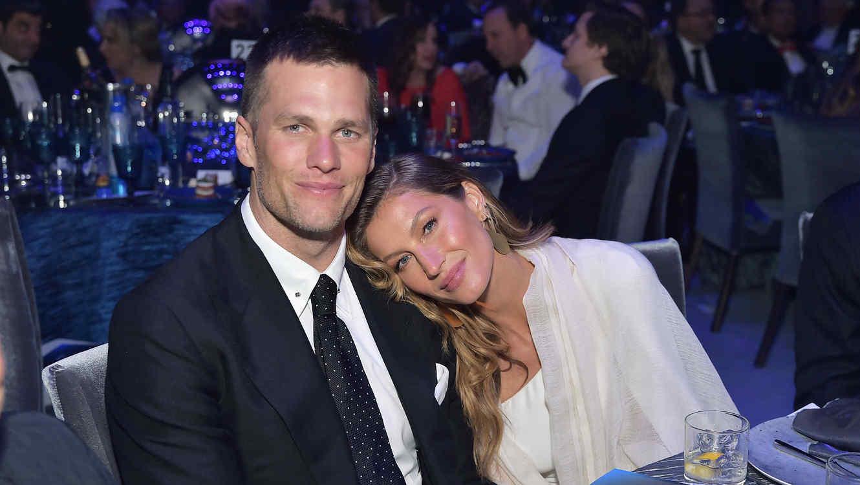 Tom Brady con Gisele Bündchen, febrero 2019