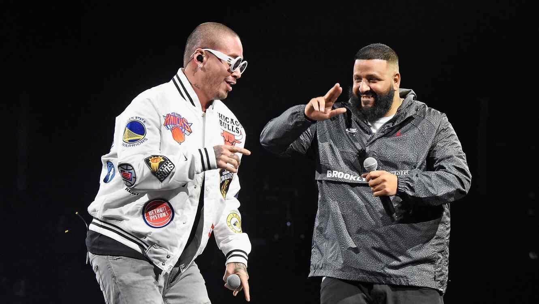 J Balvin and DJ Khaled perform live together