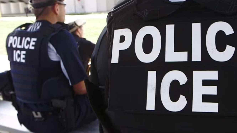 Un operativo del ICE en una imagen de archivo