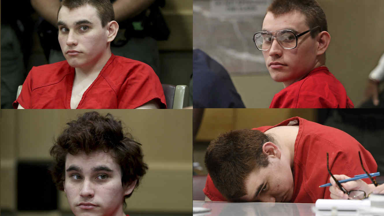 Cuatro imágenes de archivo de Nikolas Cruz en la corte.