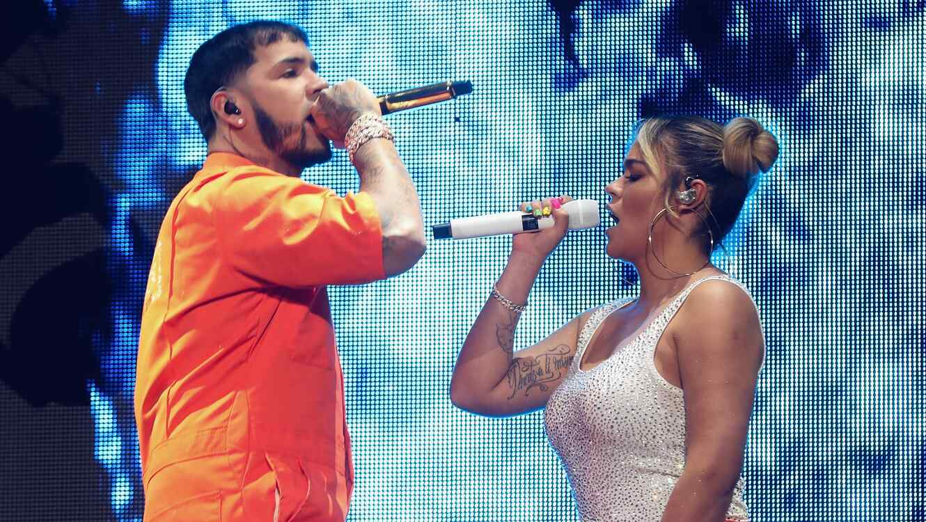 Anuel AA and Karol G in concert together