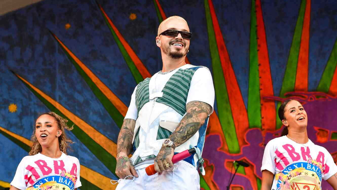 J Balvin performing at a festival