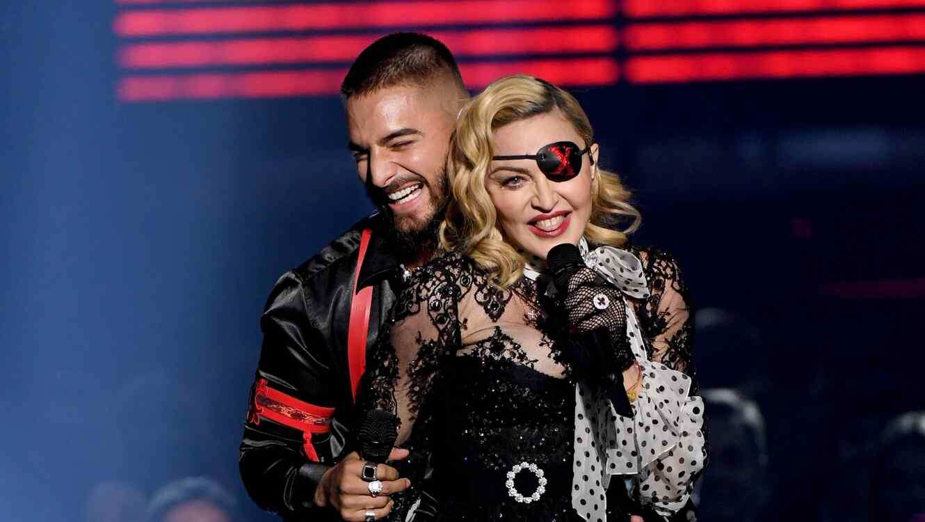 Maluma and Madonna at the 2019 Billboard Music Awards