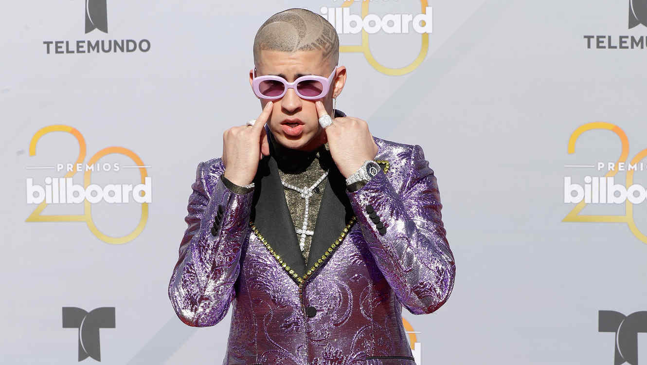 Bad Bunny at the 2018 Billboard Latin Music Awards