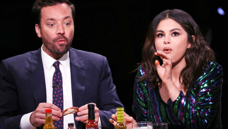Selena Gomez at the Jimmy Fallon show