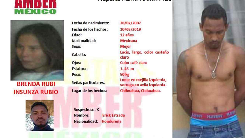 Brenda Rubí fue secuestrada por el hondureño Wilson Lenín Pacheco Barrera