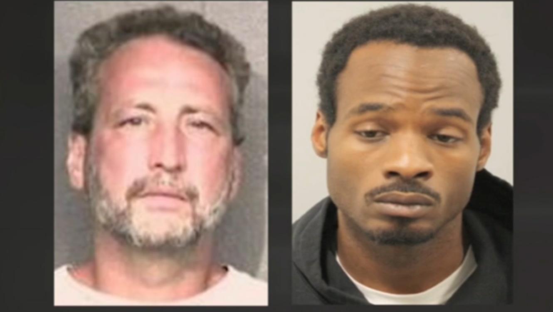 David Chalfant y Derion Vence en la cárcel del Condado Harris