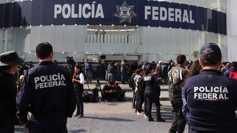 Fotografía de un centro de comando de la Policía Federal en una foto de archivo.