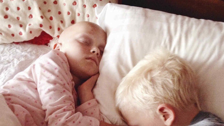 Niño enfermo de cáncer