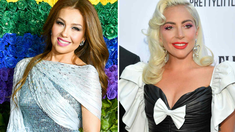 Thalía y Lady Gaga