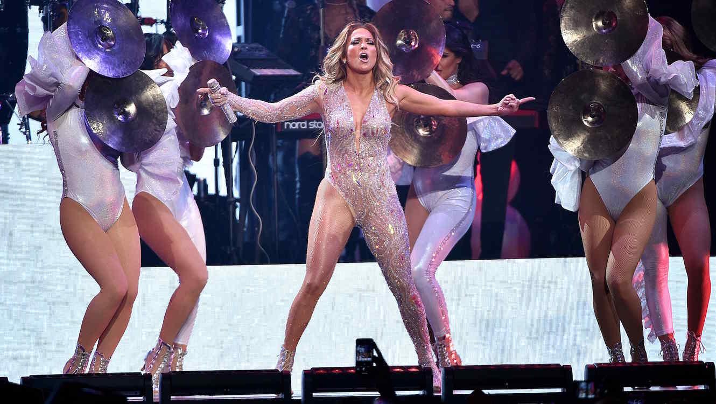 Jennifer Lopez in New York concert