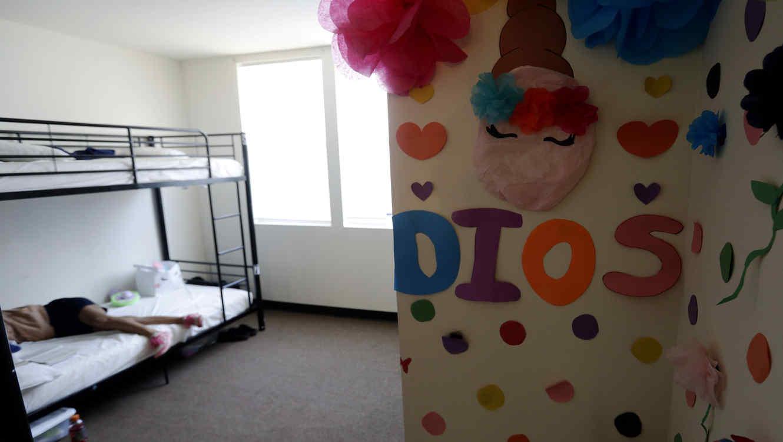 Habitación en un centro de detención para niños migrantes en Carrizo Springs, Texas, el 9 de julio.