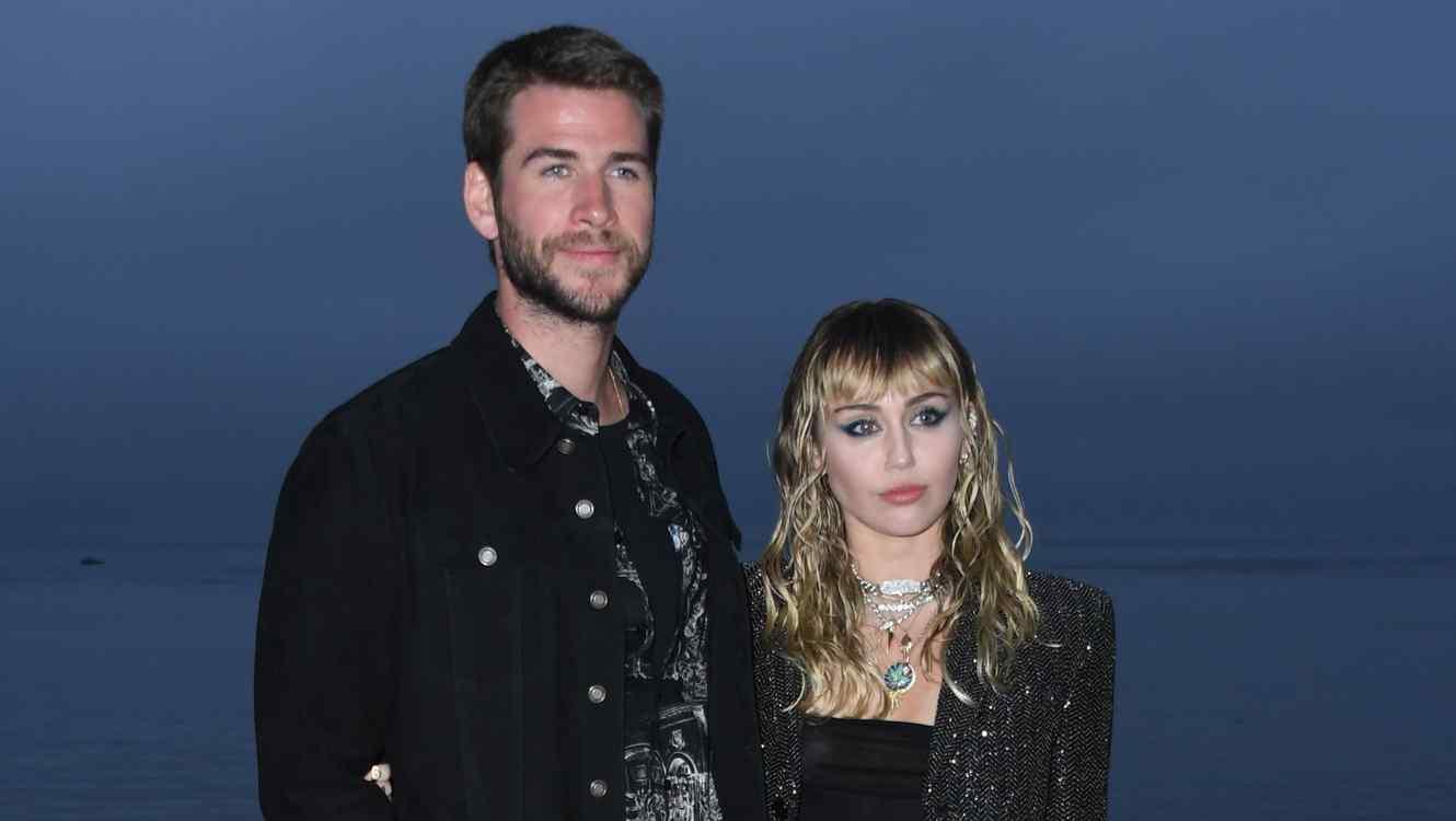 Liam and Miley Cyrus photograph together