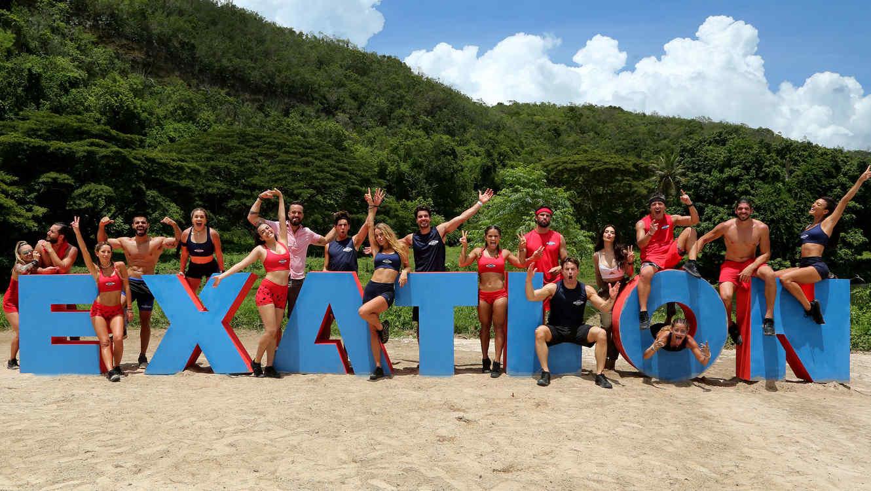 Celebridades y atletas en el Especial de Exatlón
