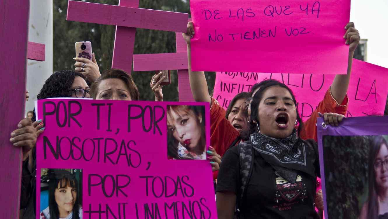 Protesta contra la violencia de género en la Ciudad de México