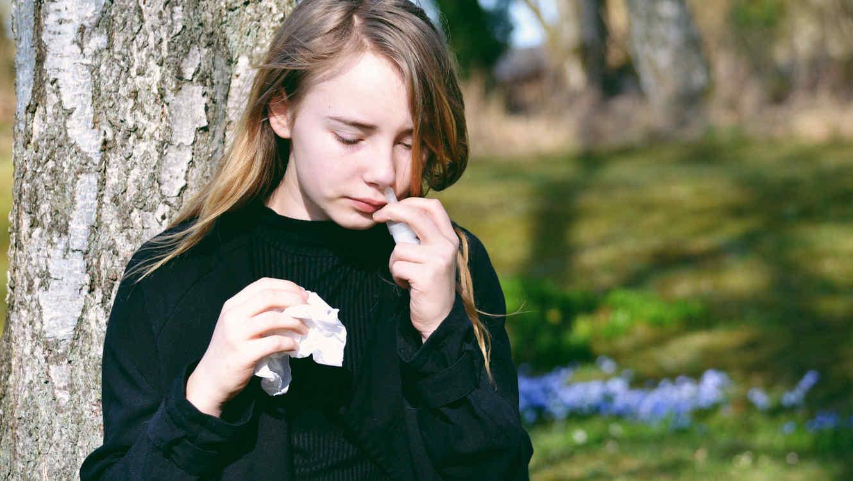 Adolescente con gripe