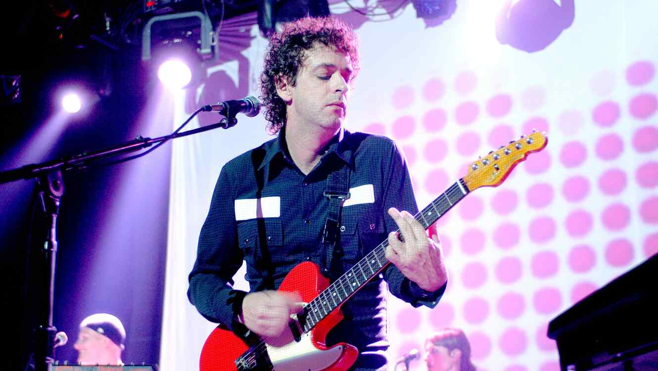 Musician Gustavo Cerati performs onstage, Chicago, Illinois, July 29, 2003.