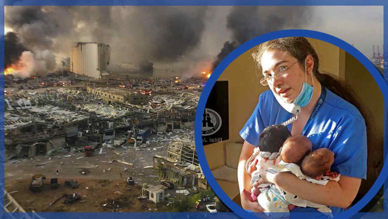 Enfermera salva bebes explosión beirut
