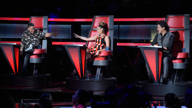 Natalia Jiménez Pedro Fernández Daddy Yankee en la primera noche de la Etapa Final de La Voz Kids