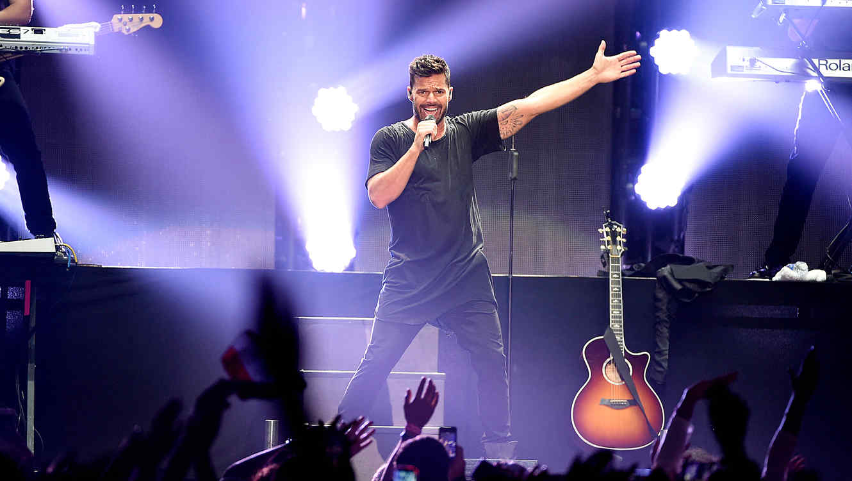 Ricky Martin en el escenario