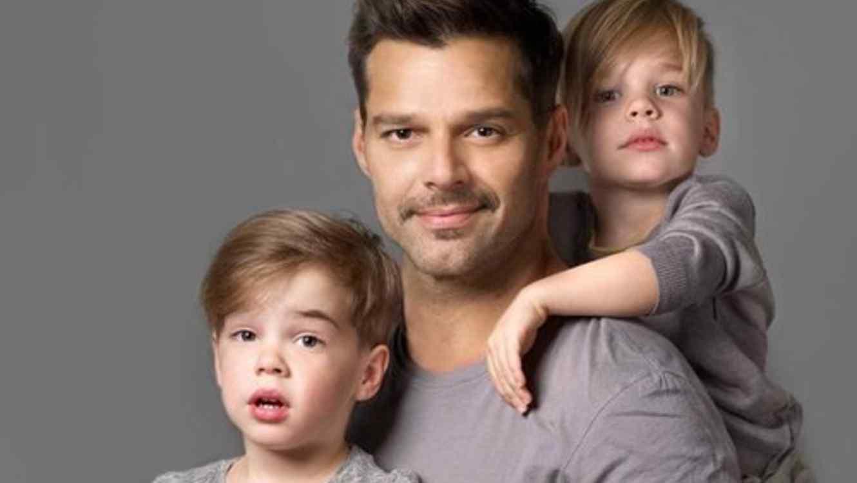 ricky martin y sus hijos matteo y valentino