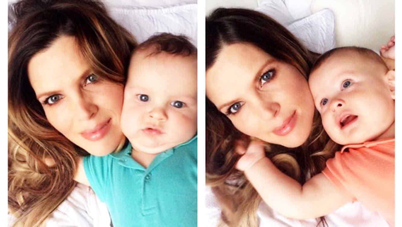 maritza rodriguez y sus gemelos se toman un selfie