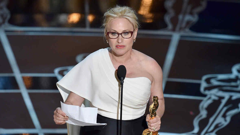 Patricia Arquette recibió el premio en la categoría mejor actriz de reparto.