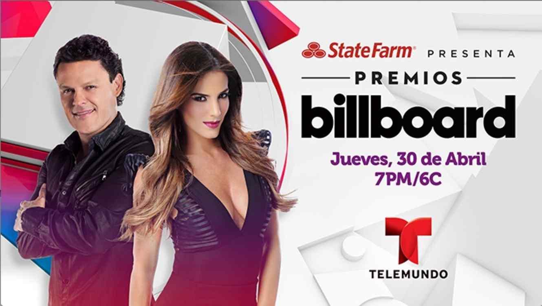 Gaby Espino y Pedro Fernandez en Premios Billboard.