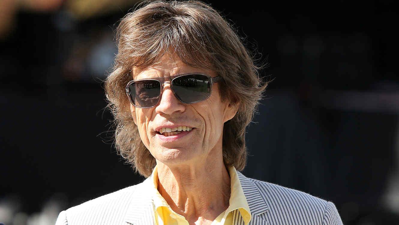 Mick Jagger en la gira con Rollingstone 2014.