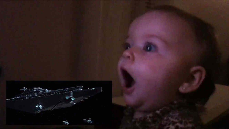 """Bebes reaccionan al ver el tráiler de """"Star Wars"""""""