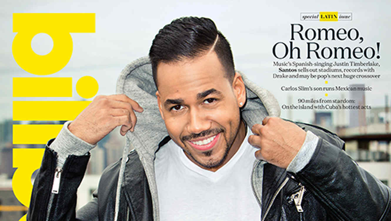 Romeo Santos en la portada del 24 de abril de 2015 de la revista Billboard