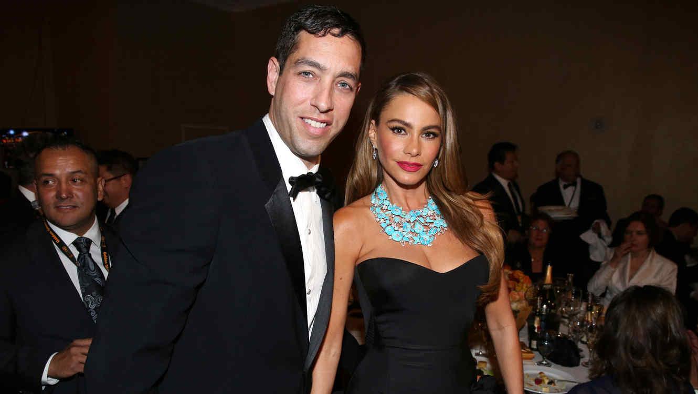 Sofía Vergara y Nick Loeb en los Golden Globes Awards 2014