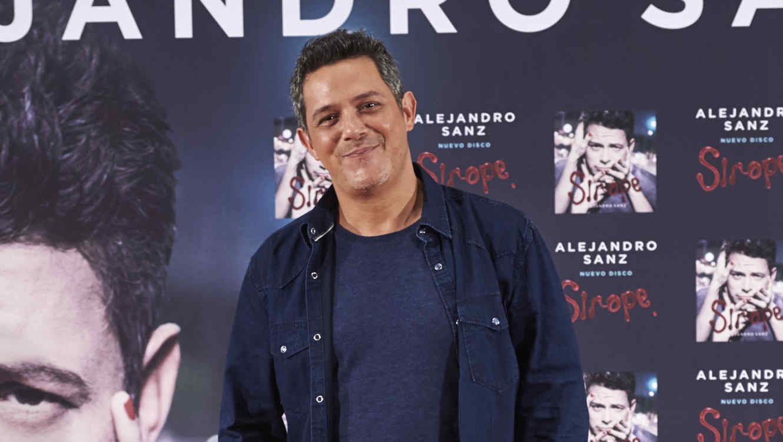 Alejandro Sanz en la presentación de su álbum Sirope en España