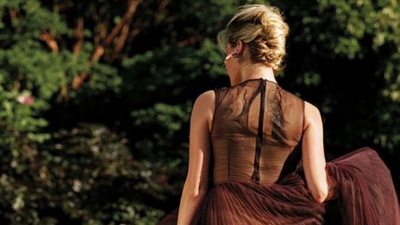Kate Upton en un vestido transparente en Instagram