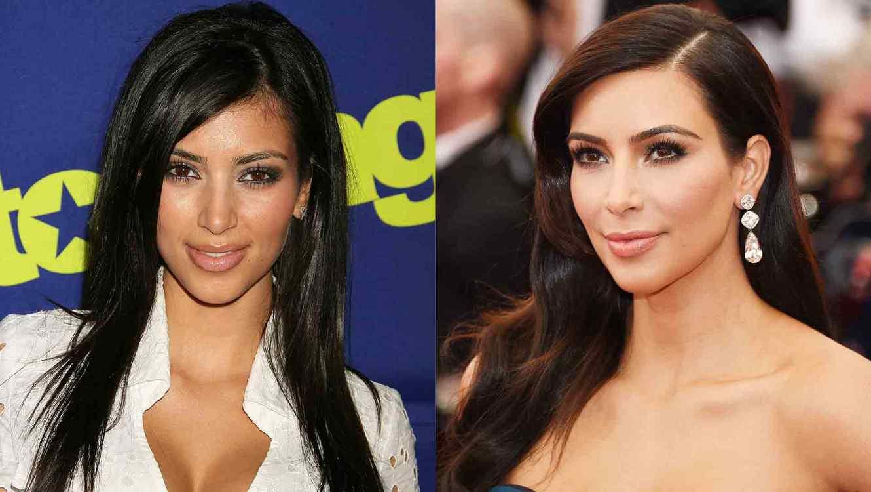 Kim Kardashian en 2006 y Kim Kardashian en 2014