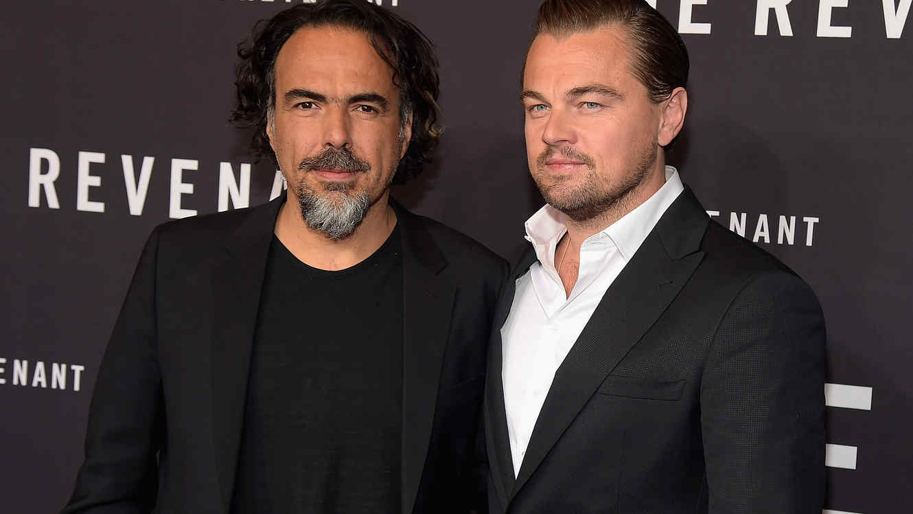 "Alejandro González Iñárritu and Leonardo DiCaprio"" - The Revenant"" New York Special Screening"