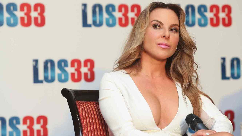 Kate del Castillo en la conferencia de prensa de 'Los 33'