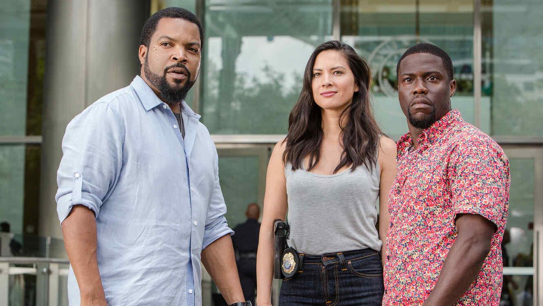 Ice Cube, Olivia Munn y Kevin Hart